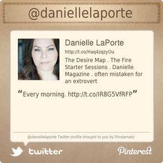@Danielle LaPorte's Twitter profile courtesy of @Pinstamatic (http://pinstamatic.com)