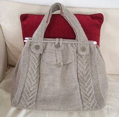gri cepli örgü çanta modeli