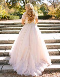 Blush Pink Peplum Wedding Dress Lace Long Sleeved Puffy Tulle Skirt Crystal Beaded Jewel Neck Plus Size Bridal Gowns Sleeves Elegant Mermaid Wedding Dress Silver Dresses From Gardeniadh, $184.19| Dhgate.Com