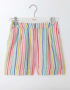 Celebrate the sunshine with your choice of women's shorts from our selection. Shop denim styles, chic chino shorts and casual cotton designs at Boden. Color Stripes, Color Pop, Colour, Pretty Outfits, Beautiful Outfits, Pretty Clothes, Tailored Shorts, Budget Fashion, Linen Shorts