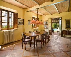 Tuscan dining room-wow!