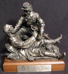 Ron-Tunison-Friend-to-Friend-A-Brotherhood-Undivided-Masonic-Civil-War-Sculpture