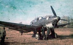 Poor quality Stuka color photograph