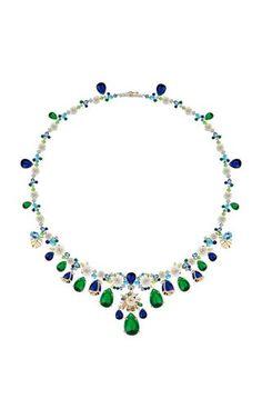 Paradise Emerald Gold Vermeil Necklace by Anabela Chan Om Necklace, Emerald Necklace, Women's Necklaces, Simple Jewelry, Fine Jewelry, Jewellery, Black Diamond Jewelry, Necklace Designs, 18k Gold