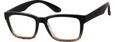Black Flexible Plastic Full-Rim Frame #2061   Zenni Optical Eyeglasses