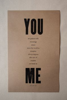 sweetest letterpress poster £12.99