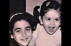 Hot Bollywood actress Kareena Kapoor childhood images