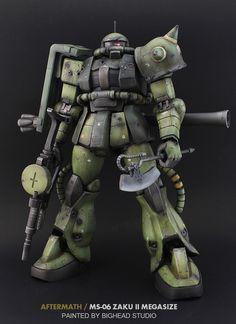 """Aftermath"" MS-06 Zaku II Megasize by BigHead Studio | Gundam Century"