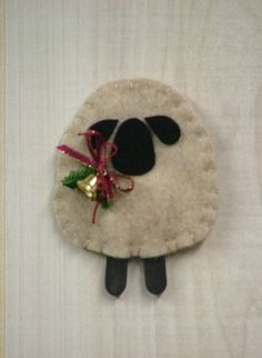 """♥ """"O Christmas Tree II: Woolly Lamb Ornament"""". SKU: O 939. Measures 3 3/4"""" high. By Countryside Patterns. ♥"""
