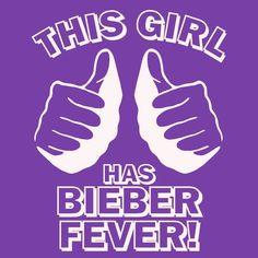 Funny justin bieber t shirt This GIRL has BIEBER FEVER T Shirt concert beiber. $12.00, via Etsy.