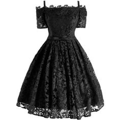 Black 2xl Lace Cold Shoulder Formal 1950 Prom Dress ($59) ❤ liked on Polyvore featuring dresses, lace dress, cold shoulder prom dress, lace formal dresses, prom dresses and lacy dress