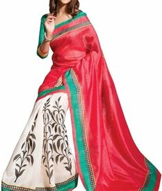 Roposo.com - Latest printed ethnic sarees best for indian-festivals online ishin bhagalpuri solid cotton silk sari