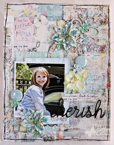 Triple the Scraps: An 8 1/2 x 11 layout by Patter Cross for Blue Fern Studios.