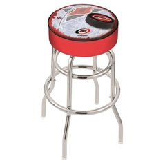 Carolina Hurricanes NHL D2 Retro Chrome Bar Stool. Available in 25-inch and 30-inch seat heights. Visit SportsFansPlus.com for details.