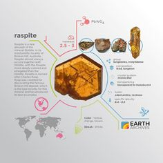 """Raspite is named after Charles Rasp discoverer of the famous Broken Hill deposit which is the type locality for this mineral and has produced its best examples. <a class=""""pintag"""" href=""""/explore/science/"""" title=""""#science explore Pinterest"""">#science</a> <a class=""""pintag"""" href=""""/explore/nature/"""" title=""""#nature explore Pinterest"""">#nature</a> <a class=""""pintag searchlink"""" data-query=""""%23geology"""" data-type=""""hashtag"""" href=""""/search/?q=%23geology&rs=hashtag"""" rel=""""nofollow"""" title=""""#geology search Pinterest"""">#geology</a> <a class=""""pintag searchlink"""" data-query=""""%23minerals"""" data-type=""""hashtag"""" href=""""/search/?q=%23minerals&rs=hashtag"""" rel=""""nofollow"""" title=""""#minerals search Pinterest"""">#minerals</a> <a class=""""pintag"""" href=""""/explore/rocks/"""" title=""""#rocks explore Pinterest"""">#rocks</a> <a class=""""pintag"""" href=""""/explore/infographic/"""" title=""""#infographic explore Pinterest"""">#infographic</a> <a class=""""pintag searchlink"""" data-query=""""%23earth"""" data-type=""""hashtag"""" href=""""/search/?q=%23earth&rs=hashtag"""" rel=""""nofollow"""" title=""""#earth search Pinterest"""">#earth</a> <a class=""""pintag searchlink"""" data-query=""""%23raspite"""" data-type=""""hashtag"""" href=""""/search/?q=%23raspite&rs=hashtag"""" rel=""""nofollow"""" title=""""#raspite search Pinterest"""">#raspite</a>"""