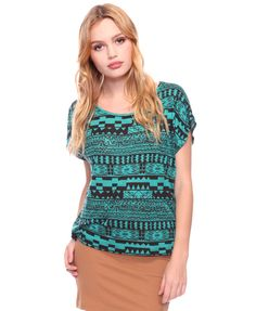 Love the color of this top! It would make my blue eyes pop right out of my face.