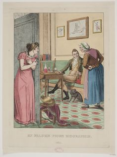 'En falden piges biografie, nr 2' ('Biography of a fallen girl, nr 2') after an original by C.W. Eckersberg 1808; Danish, 1811. Statens Museum for Kuns, nr. KKS16312