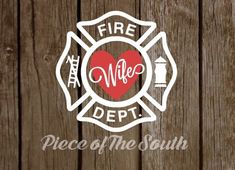This listing of for a white vinyl Fire Wife decal (with color heart) made in the size of your choosing. This decal is perfect for your favorite tumbler, mug, car, laptop, etc. Be sure to check out the sizing options available and choose your favorite color combo! If you would like a different color Fire Dept Maltese cross please include in the notes section the color that you would like or send me a private message to a full list of color options available. Thank you! This vinyl decal is…
