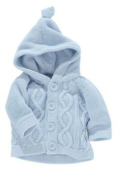"Buy Blue Cable Knit Cardigan from the Next UK online shop [ ""Buy Blue… - Stricken 2019 Baby Boy Cardigan, Knitted Baby Cardigan, Knit Baby Sweaters, Knitted Baby Clothes, Cable Knit Cardigan, Boys Sweaters, Baby Knitting Patterns, Baby Sweater Knitting Pattern, Hoodie Pattern"