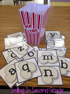 Popcorn Letters! My students love practicing their letter sounds now that it looks like popcorn!