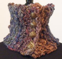 Knitted neck warmer -- love!!