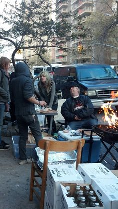 LES community on Avenue C is beyond Punk Rock..they are the bad asses providing hot coffee to volunteers