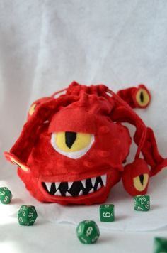 Beholder Dice Bag Dungeons and Dragons by CraftedCreatureShop