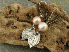 Natural Rose Leaf Rustic Artisan Sterling by sweetrockcandybeads