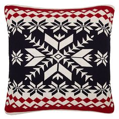 Buy John Lewis Chamonix Fair Isle Knit Cushion, Multi Online at johnlewis.com