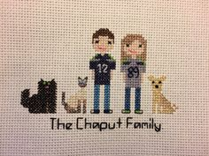 Custom Cross-Stitch Family Portrait