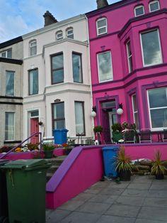 Pink house in Belfast Ireland