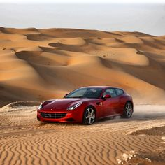 Beautiful! The #FerrariFF conquering the desert.