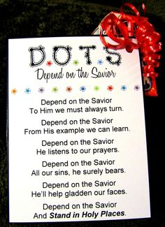 dots-depend on the Savior