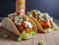 Buffalo Shrimp Tacos