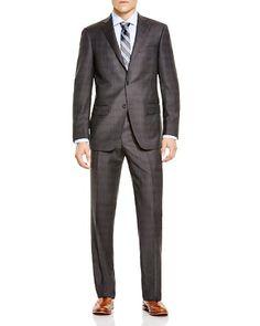 Hart Schaffner Marx Platinum Label Plaid Classic Fit Suit - 100% Bloomingdale's Exclusive