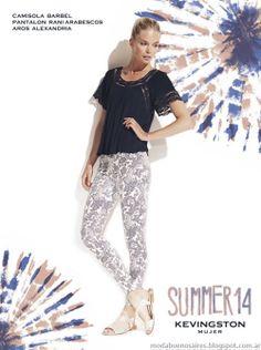 Kevingston Mujer 2014 camisas, camisolas, tops, remeras y musculosas de verano. Moda 2014.