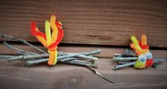 Campfire Girl Scout SWAP craft -- the girls loved making these!