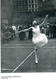 Suzanne Lenglen, oct. 1926. Tennis.