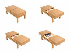 DIVIDE Coffee Table with hidden drawer