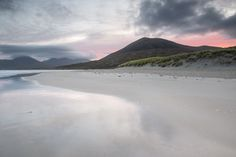 Isle Of Harris, Highland Cow Print, Outer Hebrides, Beach Print, Pink Sky, Rest Of The World, Black And White Photography, Landscape Photography, Sands