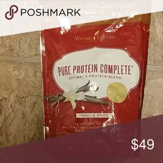 Young living pure protein complete vanilla 26.2 oz Young living pure protein complete vanilla 26.2 oz New never open Pure Protein Complete is a comprehensive protein supplement that combines a proprietary 5-Protein Blend, amino acids, and ancient peat and apple extract to deliver 25 grams of protein per serving in Other