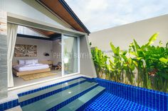 bedroom with pool view Layan