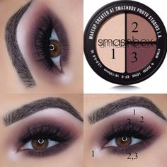 Smashbox – Snap Queen Trio Eye Shadow Palette Related posts:𝐩𝐢𝐧 — 𝟎𝟎𝐥𝐚𝐢𝐭 ✧ - - Augen Make up Fancy Office Work Outfits Ideas For Women 2019 Training Flexibility Stretching Professional. Eye Makeup Glitter, Neutral Eyeshadow Palette, Smashbox Eyeshadow Palette, Eye Palettes, Smokey Eyes, Make Up Tutorials, Eye Makeup Steps, Day Eye Makeup, Eyeliner Makeup