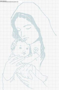 Mother and child embroidery.