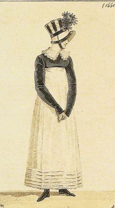 Bonnet and spencer 1814 Costume Parisien Regency Dress, Regency Era, Historical Costume, Historical Clothing, Jean Délavé, Mode Costume, Fashion Painting, Empire Style, Fashion Plates