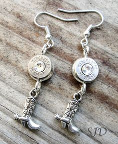 Bullet earrings with Cowgirl BootsMORE by Sarahsjewelrydesigns, $27.00