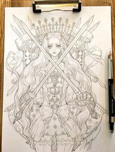 ✔ Anime Manga Black And White Dashboards Dress Design Sketches, Art Sketches, Art Drawings, Manga Art, Anime Art, Character Art, Character Design, Anatomy Sketches, Sad Art