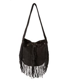 Love this Black Fringe Nikki Leather Tote on #zulily! #zulilyfinds