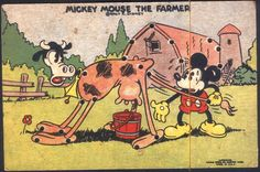 Mickey Mouse String Game Card (1930's)