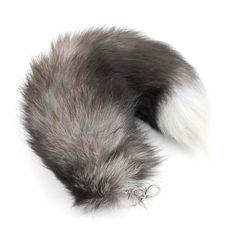 Lovely Design Big Imitate Fox Fur Tail Tassel Handbag Backpack Pendant Key Chain